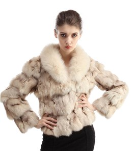 Fox Jacket With Racoon Collar