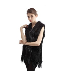 Long Rabbit Raccon Vest