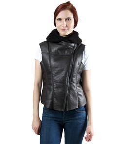 Kate ladies slink lamb vest nohood