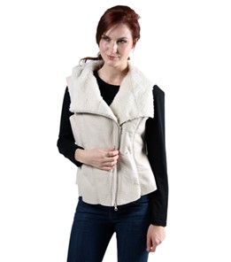 Kate ladies slink Lamb vest hood