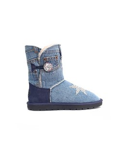 Denim BB Crystal Boots