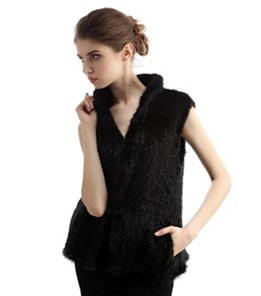 Irregular Rabbit Fur Vest