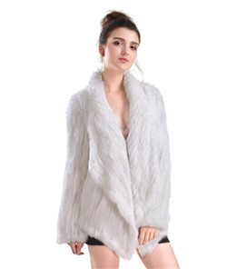 Irregular Rabbit Fur Coat